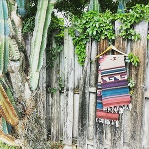 Vintage Wool Southwestern Rug/Wall Art/Throw